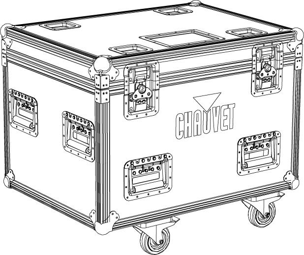 TC 4xSTRIKE-4 Flightcase i standardstorlek anpassad för 4 x Chauvet Strike-4