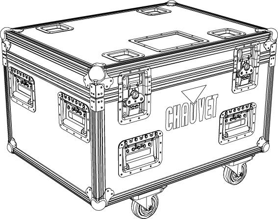 TC 4xROGUE R1 WASH Flightcase i standardstorlek anpassad för 4 x Chauvet Rogue R1 Wash