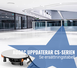 Audac uppdatera CS-serien