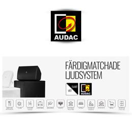 Färdigmatchade ljudsystem från Audac