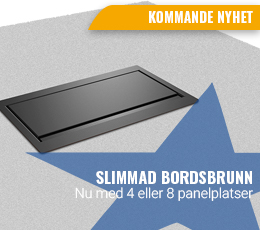 Slimmad bordsbrunn