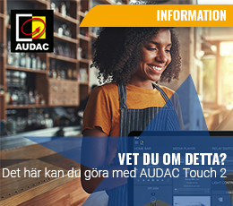 Nya funktioner i Audac touch 2